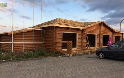 Construction log restaurant in Istanbul-Turkey